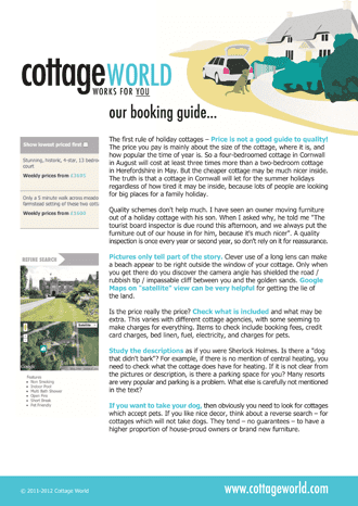 Download our FREE Cottage Holiday Guide